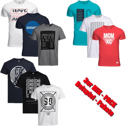 Jack & Jones T-Shirt Mix Pack 3er, 6er, 9er