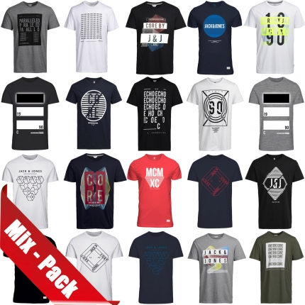 Jack & Jones T-Shirt Mix Pack 6er