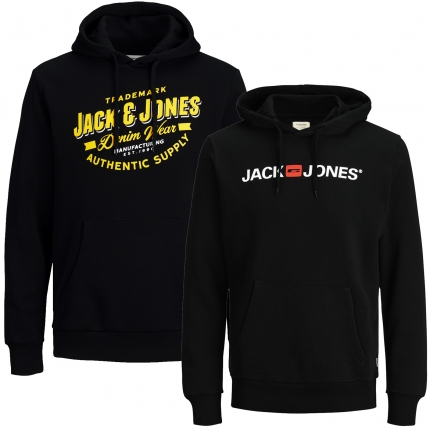 Jack & Jones Herren Kapuzenpullover 2er Pack Hoodie Sweat @02