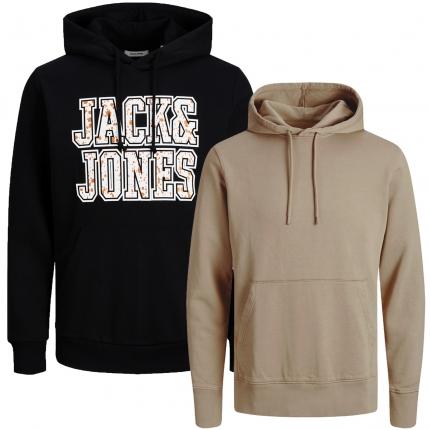 Jack & Jones Herren Kapuzenpullover 2er Pack Hoodie Sweat @17