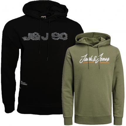 Jack & Jones Herren Kapuzenpullover 2er Pack Hoodie Sweat @09