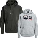 Jack & Jones Herren Kapuzenpullover 2er Pack Hoodie Sweat @19