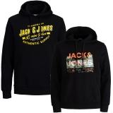 Jack & Jones Herren Kapuzenpullover 2er Pack Hoodie Sweat @02