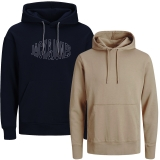 Jack & Jones Herren Kapuzenpullover 2er Pack Hoodie Sweat @17