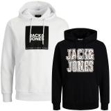 Jack & Jones Herren Kapuzenpullover 2er Pack Hoodie Sweat @26