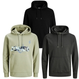 Jack & Jones Herren Kapuzenpullover 3er Pack Hoodie Sweat X19