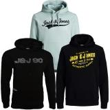 Jack & Jones Herren Kapuzenpullover 3er Pack Hoodie Sweat X05