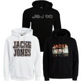 Jack & Jones Herren Kapuzenpullover 3er Pack Hoodie Sweat X06