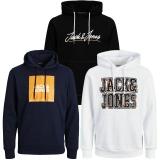 Jack & Jones Herren Kapuzenpullover 3er Pack Hoodie Sweat X17
