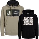 Jack & Jones Herren Kapuzenpullover 2er Pack Hoodie Sweat @21