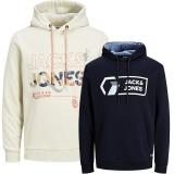 Jack & Jones Herren Kapuzenpullover 2er Pack Hoodie Sweat @20
