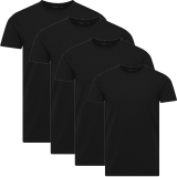 Jack & Jones Herren Basic T-Shirt O-Neck 4er Pack schwarz Rundhals