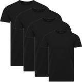 Jack & Jones Herren Basic T-Shirt O-Neck 4er Pack schwarz Rundhals
