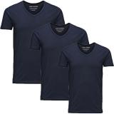 Jack & Jones 3er Pack BASIC V-NECK T-Shirt s Blau