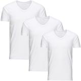 Jack & Jones 3er Pack BASIC V-NECK T-Shirt s Weiß