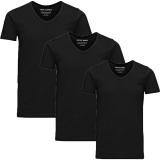 Jack & Jones 3er Pack BASIC V-NECK T-Shirt s Schwarz