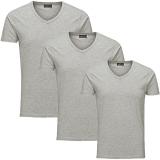 Jack & Jones 3er Pack BASIC V-NECK T-Shirt s Grau