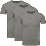 Jack & Jones 3er Pack BASIC O-NECK T-Shirt s Grau
