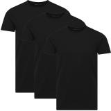 Jack & Jones 3er Pack BASIC O-NECK T-Shirt s Schwarz